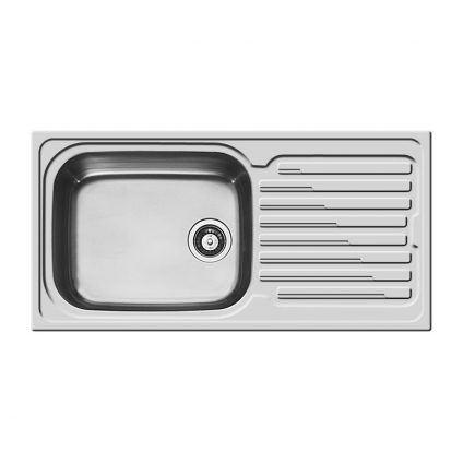 107121501 100cm Single Bowl Reversible Sink with Drainer