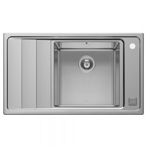 Pyramis Studio Single Bowl Sink With Left Hand Drainer (107149030)