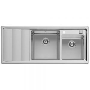 Pyramis Studio Double Bowl Stainless Steel Sink With Left Hand Drainer (107149530)