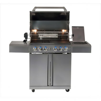 Smart 4 Burner Stainless Steel Trolley BBQ