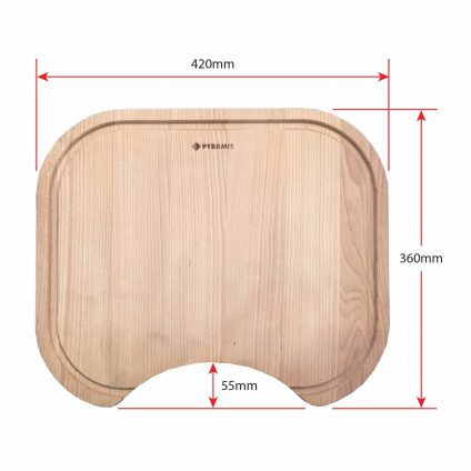 Pyramis Beech Wood Chopping Board (525004701) - Product Dimensions