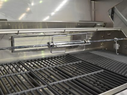 Smart 6 Burner Stainless Steel Built In BBQ Motorised Rotisserie