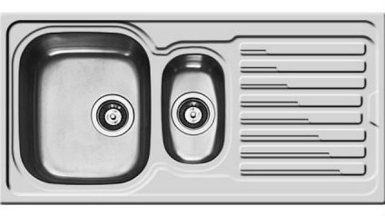 Amaltia Plus 1.5 Bowl Reversible Sinks with Drainer (107118301)