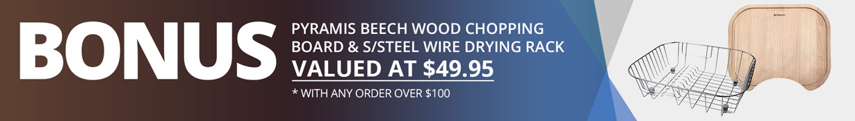 SinksDirect - Bonus Chopping Board & Drying Rack With Orders Over $100 Promo