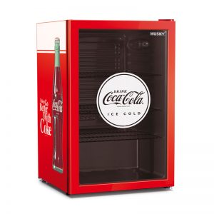 CKK110 Husky 110L Coca-Cola Branded Glass Door Bar Fridge