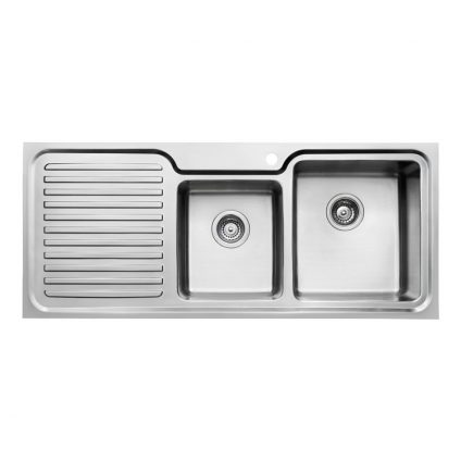 TSF1180L 118cm Double Bowl Sink With Left Drainer