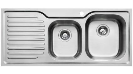 TSLE1080LM - 108cm Living Edge 1.5 Bowl Sink With TMLE Mixer Tap