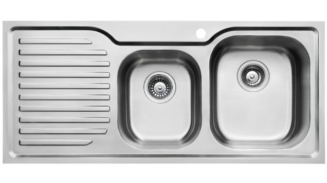 TSLE1080LM 1.5 Bowl Left Hand Drainer Kitchen Sink with Mixer Tap